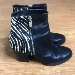 Michael Kors Ankle boots Black and white size 7